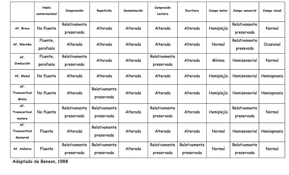 Cuadro clasificacion de atasias